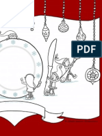 elf placesetting 8.5x11 colouring page