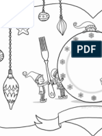 elf placesetting 11x17 colouring page