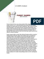 Funny Games U.S Analysis