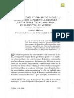Marino 2006. Ahora Que Dios Nos Ha Dado Padre..Cultura Juridico Politica Cmpesina Centro de Mexico
