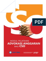 18. Modul Pelatihan Advokasi Anggaran Bagi CSO Civil Society Organization