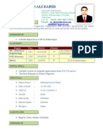 M.Ali zahid CV