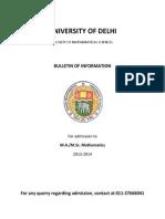 Info Bulletin Msc Du