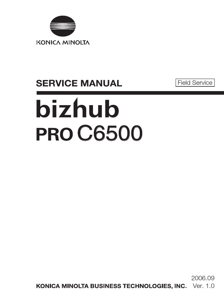 Konica Minolta Bizhub C6500 Field Service Total Manual | Ac Power Plugs And  Sockets | Electrical Connector