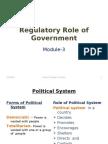 Business Environment-Regulatory Role of Govt.
