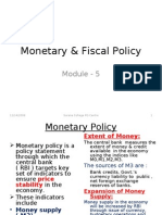 Business Environment-Monetary & Fiscal Policy