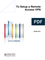 Setup a Remote Access VPN