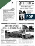 Versión impresa del periódico El mexiquense 27 noviembre 2013