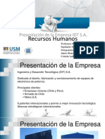 Presentacion 1 Recursos Humanos IDT SA