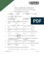 Logarithms 2011 Worksheet