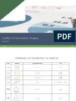 Leaflet of Geometric Shapes