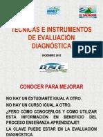TÉCNICAS E INSTRUMENTOS DE EVALUACIÓN DIAGNÓSTICA