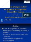 How ECigarettes Should Be Regulated in UK Ecig Summit