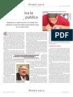 A la deriva la educación pública