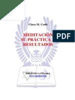 Codd Clara - Meditacion Su Practica Y Resulatados