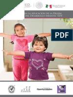 Manual para la aplicación de la Prueba Evaluación del Desarrollo Infantil