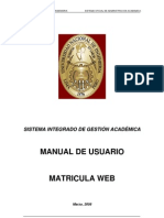 Manual para la Matricula