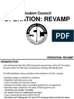Appendix A - Operation Revamp