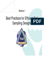 Best Practices for Efficient Soil Sampling Designs