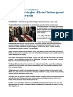 BO Ignores Syrian Islam's Christian Slaughter