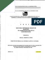La aplicación de la teconologia administrativa en las empresas constructoras de hermosillo sonora