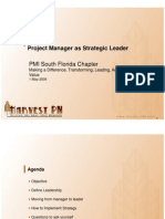 project manager as strategic leader - nathaniel quintana