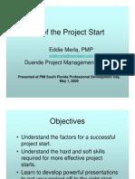 the art of the project start - eddie merla