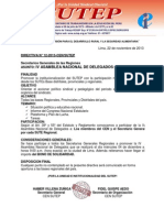 IV Asamblea Nacional de Delegados - 4 de diciembre SUTEP