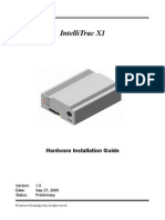 IntelliTrac X1 Installation