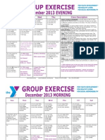 DECEMBER 2013 Group Exercise Calendar