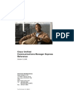 Cisco Unified Communications Manager Express Reference