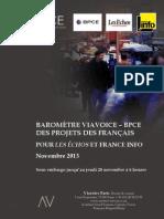 Le baromètre des projets des Français  Novembre 2013