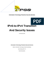 IPv6-To-IPv4 Transition & Security Issues