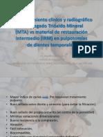 Comportamiento clínico y radiográfico