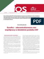 Eurofisc – zdecentralizowana sieć współpracy w dziedzinie podatku VAT