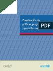 Coordinación de políticas, programas y proyectos sociales