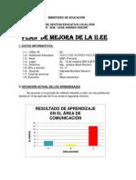 Plan de Mejora Gabriela 4to