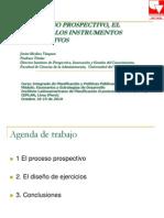 proceso prospectivo, el diseño y los instrumentos prospectivos