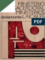 Borobio, D., Ministerio Sacerdotal, Ministerios Laicales