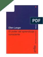 El Poder Del Aprendizaje Consciente -Ellen j