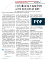 How Stable Are Medicines Moved From Original Packs Into Compliance Aids