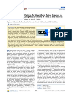 Point-of-Care Assay Platform for Quantifying Active Enzymes to Femtomolar Levels Using Measurements of Time as the Readout
