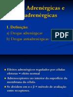 Drogas Adrenergicas e Antiadrenergicas