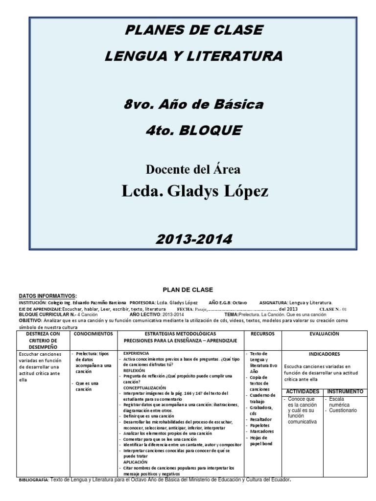 Perfecto Plantilla De Plan De Lección De Bloque Bandera - Ejemplo De ...
