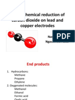 Electroreduction of Carbon Dioxide on Lead and Copper