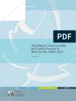 2013 NS Child Poverty Report Card