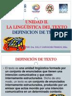 DEfinicion de  TEXTO. UNIDAD 2..pptx