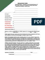 Sealed Bid Form 08-40