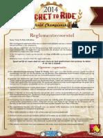 Reglement kwalificatietornooi TTR