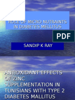 Role of Micro Nutraints in Diabetes Mellitus111